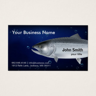 Salmon Fishing Business Card