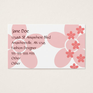 Salmon Floral Business Card