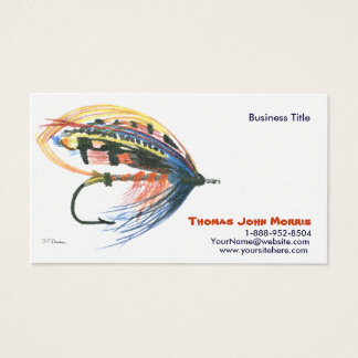 Salmon Fly fishing Lure Business Card