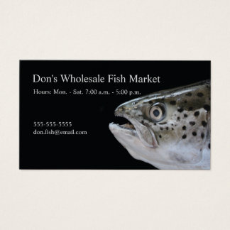 Salmon head business card