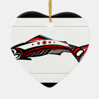 Salmon Native art Ceramic Ornament