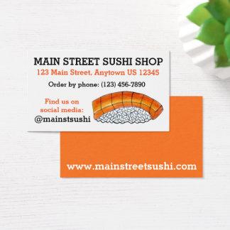 Salmon Nigiri Japanese Food Sushi Shop Restaurant Business Card