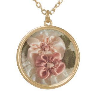 Salmon Pink And Peach Flower Custom Jewelry