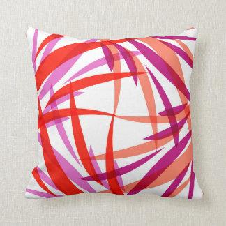 Salmon Pink and Purple Throw Pillow. Julia Bars. Cushion