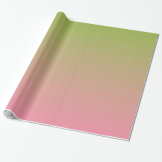 Salmon Pink Apple Green Gradient Wrapping Paper