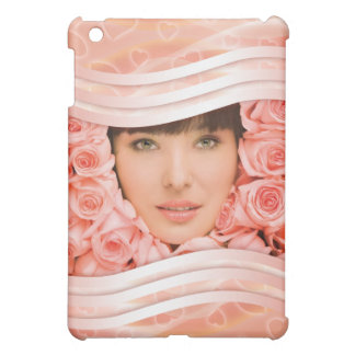 Salmon pink elegant hearts photo  iPad mini case