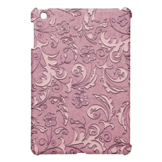 Salmon Pink Scrolls Decorative iPad Case