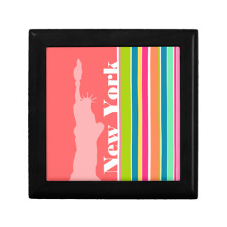 Salmon Pink & Seafoam Green; New york Gift Box