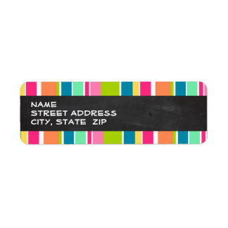 Salmon Pink & Seafoam Green; Vintage Chalkboard Return Address Label