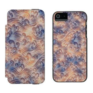 Salmon Pink Tsunami Ocean Tidal Wave Color Sea Incipio Watson™ iPhone 5 Wallet Case