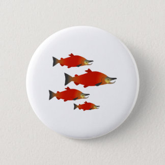 Salmon Rally 6 Cm Round Badge