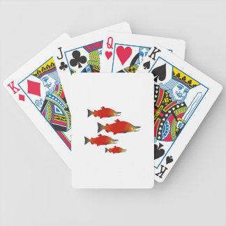 Salmon Rally Bicycle Playing Cards