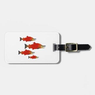 Salmon Rally Luggage Tag