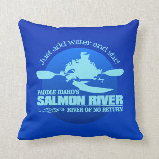 Salmon River (Blue) Cushion