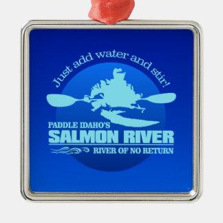 Salmon River (Blue) Metal Ornament