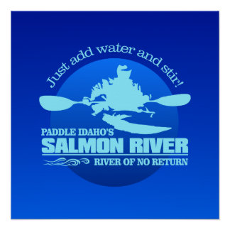 Salmon River (Blue) Poster