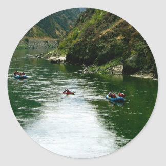 Salmon River Repose Round Stickers
