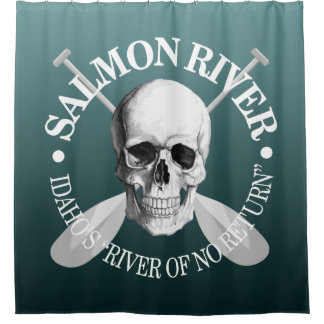 Salmon River (skull) Shower Curtain