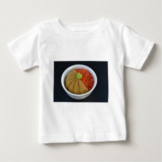 Salmon Roe Urchin Rice Bowl Japanese Food Black Baby T-Shirt