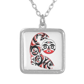 Salmon Spirit Silver Plated Necklace