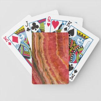 Salmon Striped Quartz Bicycle Playing Cards
