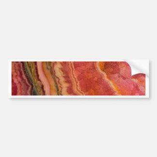 Salmon Striped Quartz Bumper Sticker