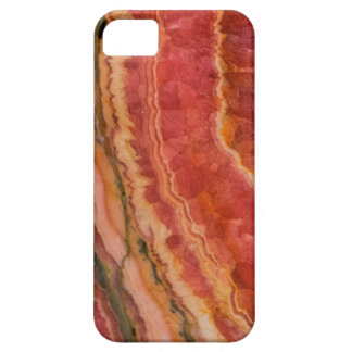 Salmon Striped Quartz iPhone 5 Cover