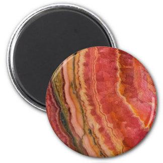 Salmon Striped Quartz Magnet