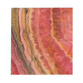 Salmon Striped Quartz Notepad
