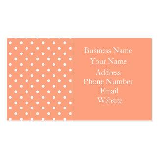 Salmon Sunset Polka Dot Template Business Card