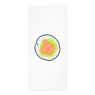Salmon Sushi Avocado California Roll Salmon Roll Rack Card