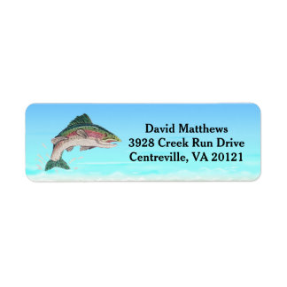 Salmon Trout Fish Return Address Return Address Label
