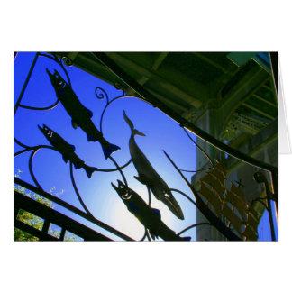 Salmon Under the Aurora Bridge Card