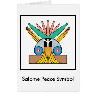 Salome Peace Symbol Card