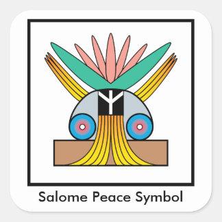 Salome Peace Symbol Sticker