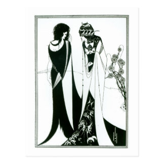 Salome with her mother, Herodias, 1894 (litho) (b/ Postcard