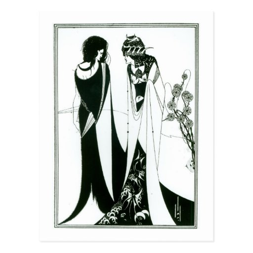 Salome with her mother, Herodias, 1894 (litho) (b/ Postcards