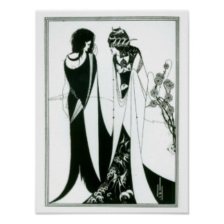 Salome with her mother, Herodias, 1894 (litho) (b/ Poster
