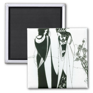 Salome with her mother, Herodias, 1894 (litho) (b/ Square Magnet