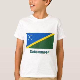 Salomonen Flagge mit Namen Shirt