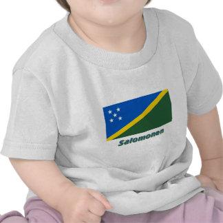 Salomonen Flagge mit Namen T-shirts