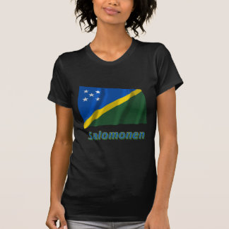 Salomonen Fliegende Flagge mit Namen T Shirt