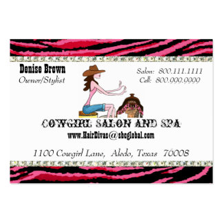 Salon and Spa/ Cowgirl Chubby profile cards Pack Of Chubby Business Cards
