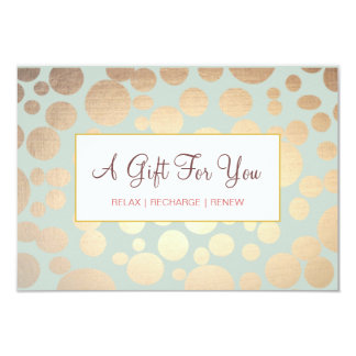Salon and Spa Faux Gold Leaf Look Gift Certificate 9 Cm X 13 Cm Invitation Card