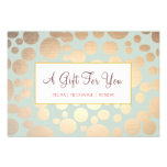 Salon and Spa Faux Gold Leaf Look Gift Certificate Personalised Invitations