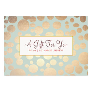 Salon and Spa Faux Gold Leaf Look Gift Certificate Pack Of Chubby Business Cards