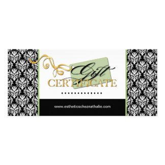 SALON AND SPA GIFT CERTIFICATE RACK CARD TEMPLATE