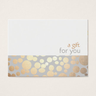 Salon and Spa Gold and Gray Gift Certificate