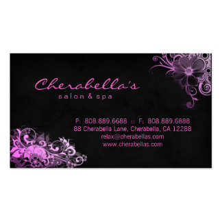 Salon Appointment Business Card Pink Floral