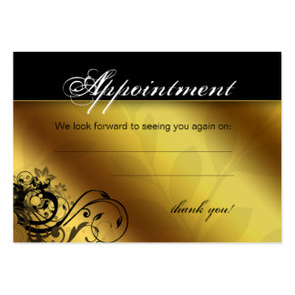 Salon Appointment Card Spa Gold Floral Butterfly Business Cards